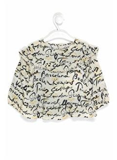 çikoby Çikoby Kız Bebek Yazı Baskılı Gömlek 6-36 Ay C19W-CK3548